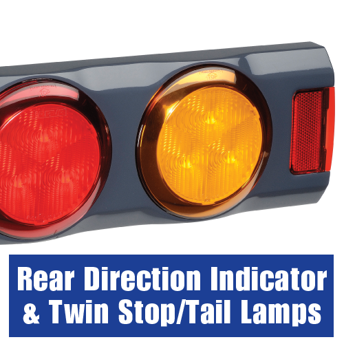 94362 Narva 9-33 Volt L.E.D Rear Direction Indicator and Twin Stop/Tail Lamps