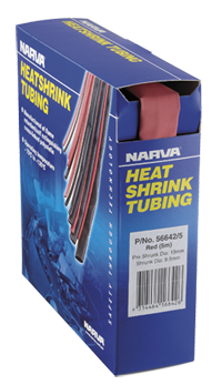 56630/20 Narva Red Heatshrink Tubing Dispensers - 2.4mm