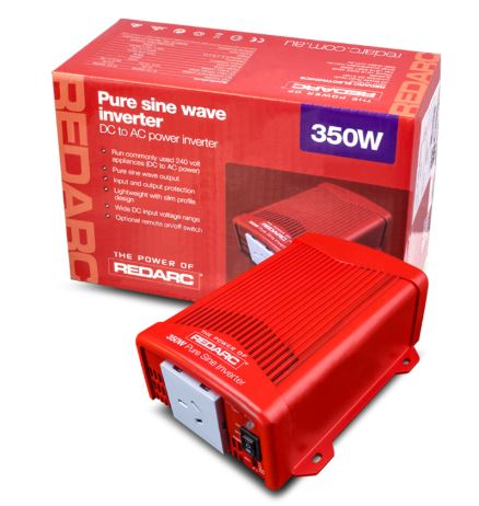 REDARC 350W 12V PURE SINE WAVE INVERTER R-12-350RS2