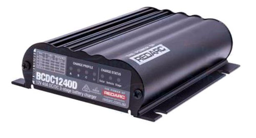 REDARC Battery Charger 12V 40A 3 Stage Dual Input BCDC1240D