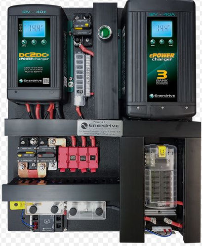 Enerdrive 40A AC and DC DIY Installation Kit, With ePRO Plus Battery Monitor (K-AGM-Board-E)
