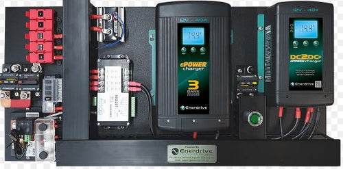 Enerdrive 40A AC and DC DIY Installation Kit with Simarine Battery Monitor (K-AGM-Board-D)