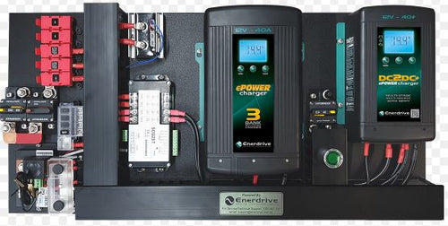 Enerdrive 40A AC and DC DIY Installation Kit, With Simarine Battery Monitor (K-AGM-Board-G)