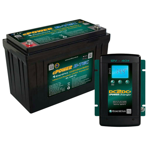 Enerdrive ePOWER B-TEC 12V 125A Lithium Battery + DCDC CHARGER