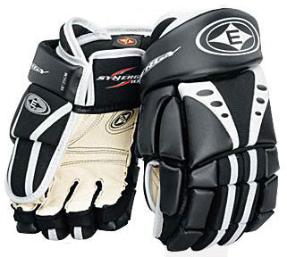 NEW Easton Synergy 100 Junior Hockey Gloves Black White 9