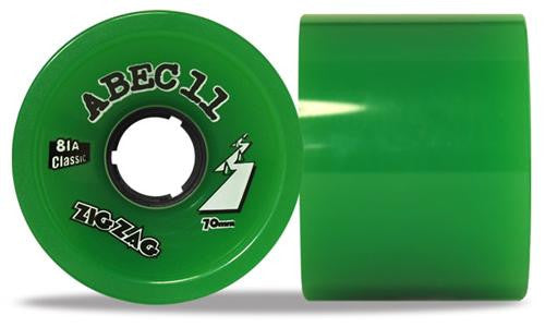 Abec 11 Zigzags Classic 70mm Green Wheels 4 Pack