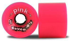 ABEC 11 Wheels Pink Seven-O's 70mm 78a Pink 4 Pack