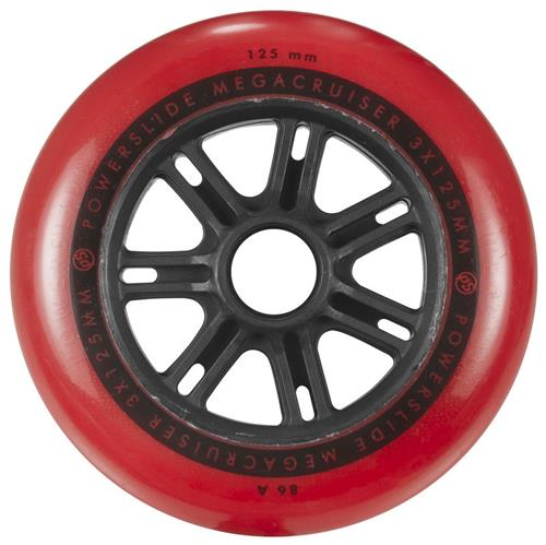 Powerslide Mega Cruiser Wheel 125mm 86a Red Each