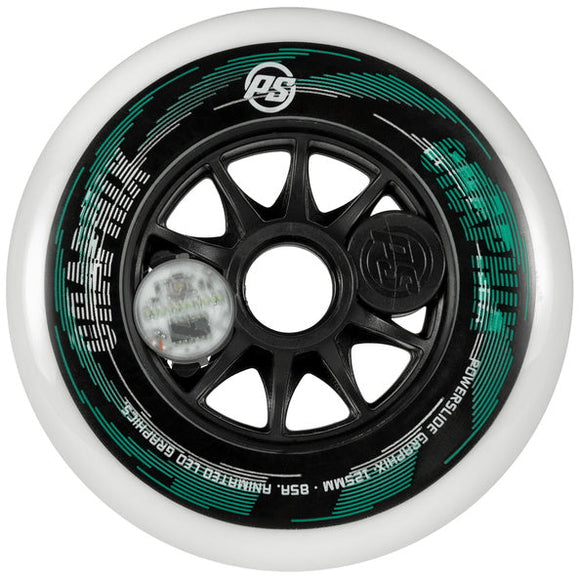 Powerslide Graphix  LED White 125 Wheels EACH