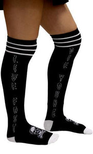 Sourpuss Live Fast Over Knee Socks