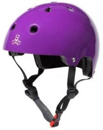Triple 8 Certified Helmet Purple Gloss
