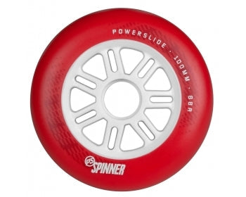 Powerslide Spinner Inline Wheels 100mm/88a - Red Each