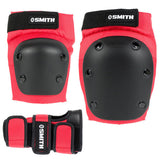 Smith Scabs Tri Pack Adult (knee, elbow, wrist) Red