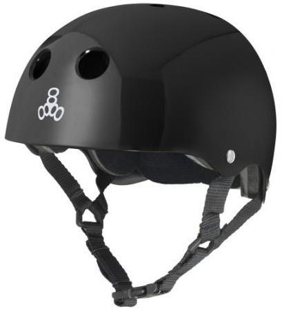 Triple 8 Brainsaver Helmet Black Gloss