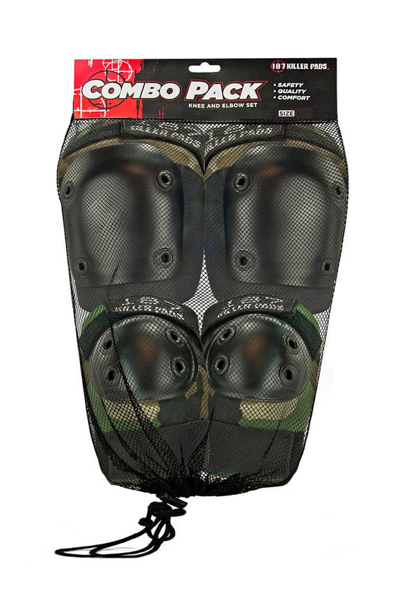 187 Adult Combo Pack Camo (Knee & Elbow)