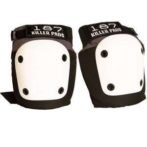 187 Fly Knee Pads Grey w/ White Caps