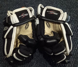 "NEW Easton Synergy 100 Junior Hockey Gloves Black White 9"" Inch"