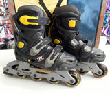 NEW Blade X Pursuit Adjustable Black Yellow Inline Junior Skates