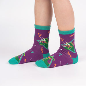 Sock it to Me Jurassic Party Junior Crew Socks