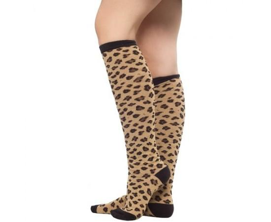 Sourpuss Leopard Tan Sock