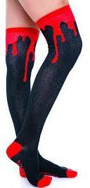 Sourpuss Bloody Hell Thigh High Socks