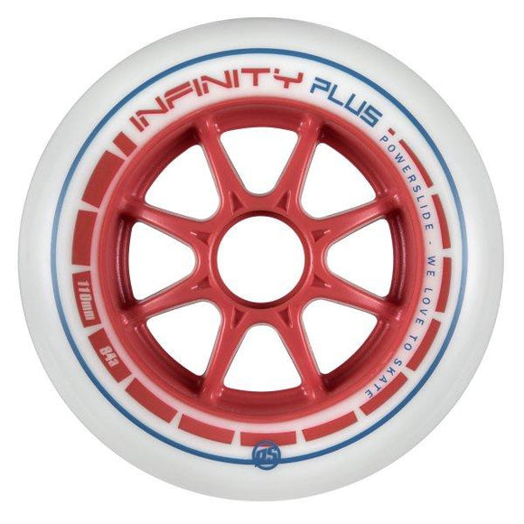 Powerslide Infinity Plus 110mm Wheels Red 4 Pack