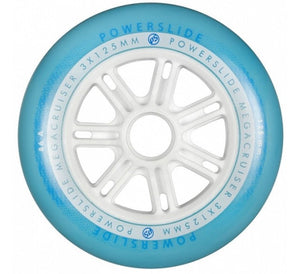 Powerslide MegaCruiser Wheels 125mm/86a Blue/White each