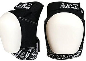 187 Pro Knee Pads Black | White Caps
