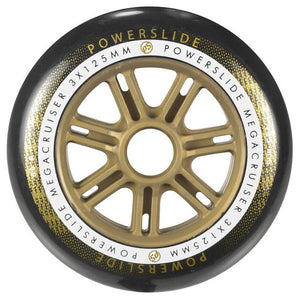 Powerslide Mega Cruiser Wheel 125mm 86a Black/Gold Each