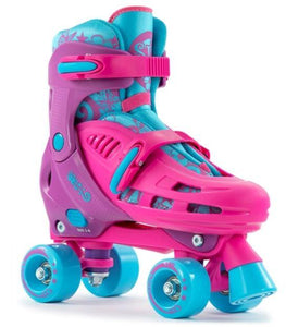 SFR Hurricane Adjustable Pink Quad Skates