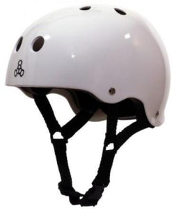 Triple 8 Brainsaver Helmet White Gloss