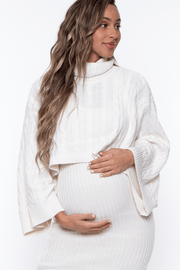 Maternity Jaila Sweater Matching Set - Ivory