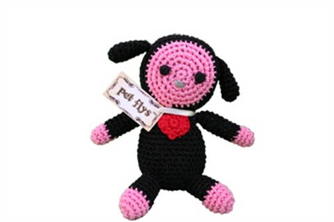 BaaBaa Black Sheep- Knit Knacks- Organic Cotton Crocheted Toys