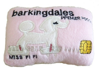 Barkingdales Credt Card Plush Toy