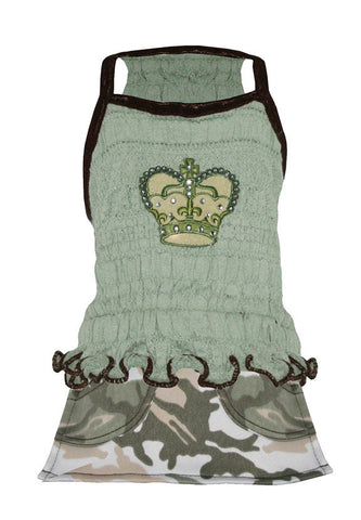Camo Crown Mini Dress