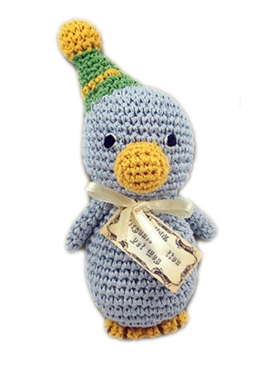 Disco Duck - Knit Knacks - Organic Cotton Crocheted Toys