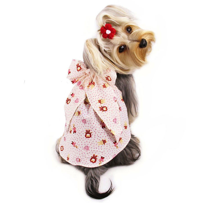 Cartoon Animal Inspired Sundress with Large Bow