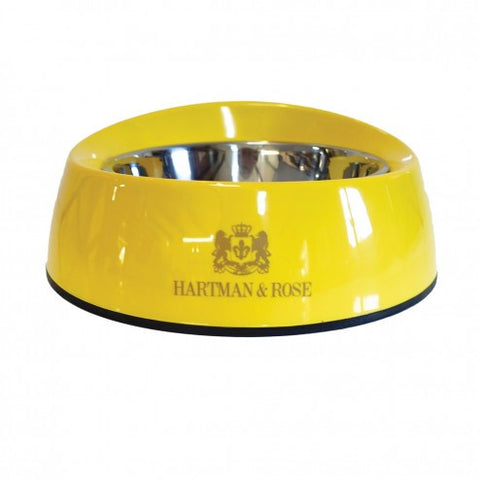 Signature Canary Yellow Melamine Dog Bowl