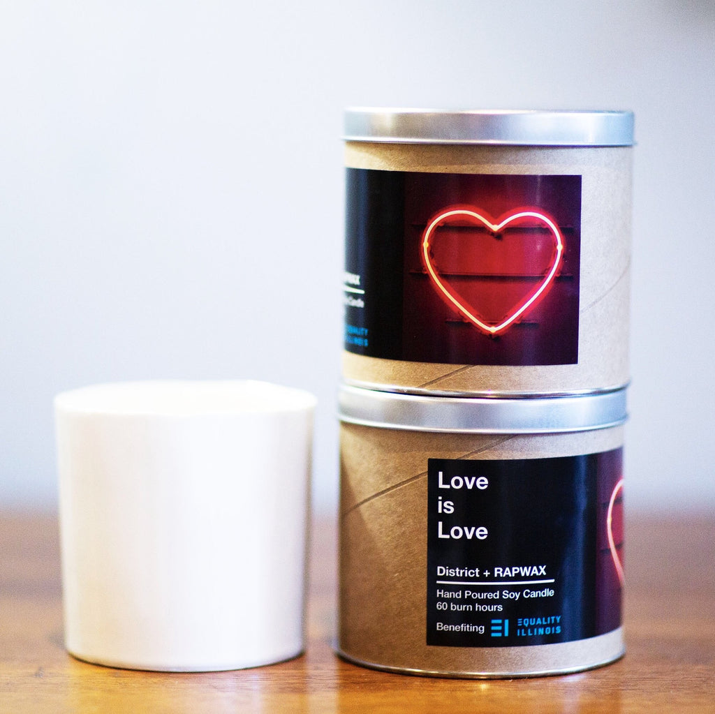 Love is Love Candle Benefitting Equality Illinois