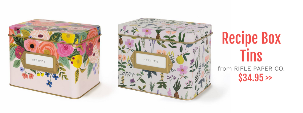 Recipe Box Tins from Rifle Paper Co