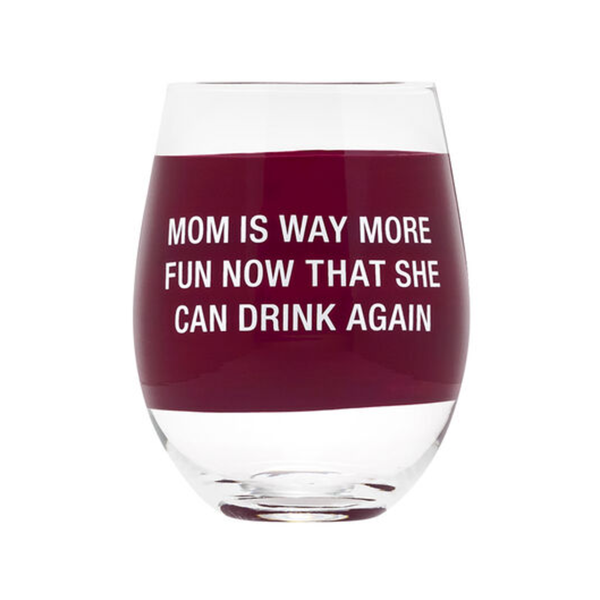 ABF WINE GLASS DRINK AGAIN About Face Designs Home - Mugs & Glasses - Wine Glasses