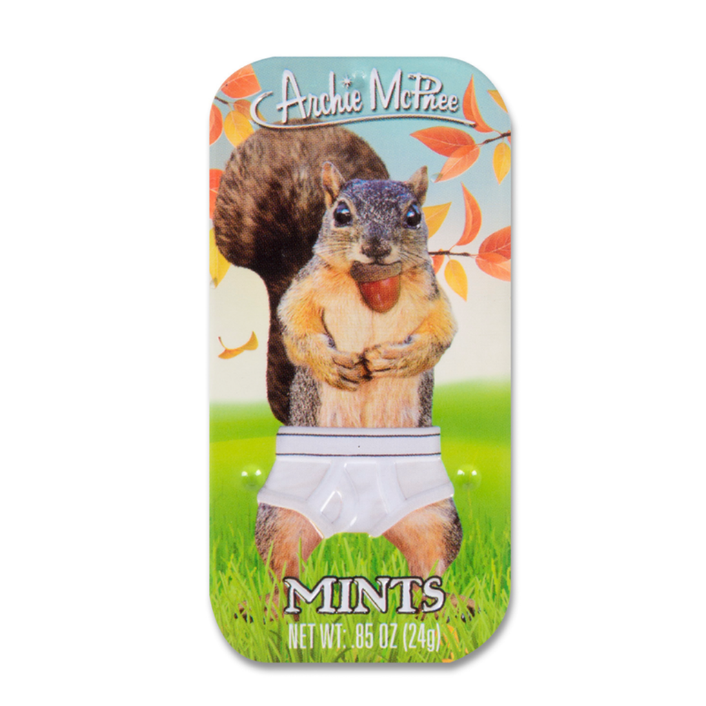 Squirrel In Underpants Mints Accoutrements Candy & Gum