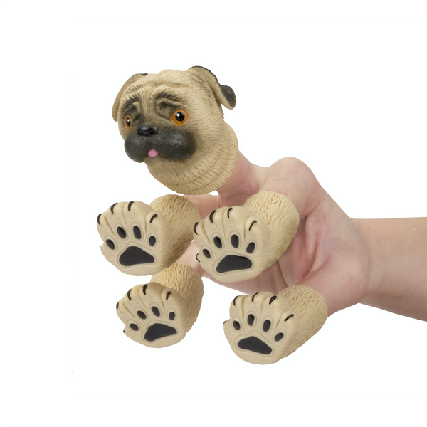 Handipug Pug Hand Finger Puppet Set Accoutrements Finger Puppets