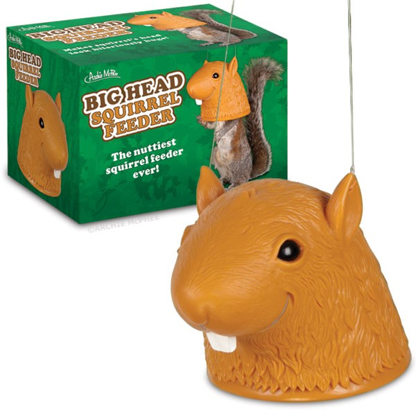 Accoutrements Novelty & Humor,Browse All,Home & Office Big Head Squirrel Head Feeder
