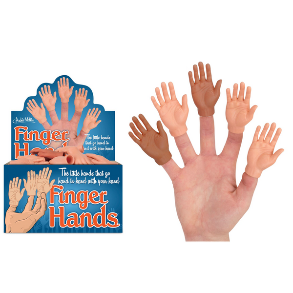 Box of Finger Hands Finger Puppets Archie McPhee Finger Puppets - Finger Hands