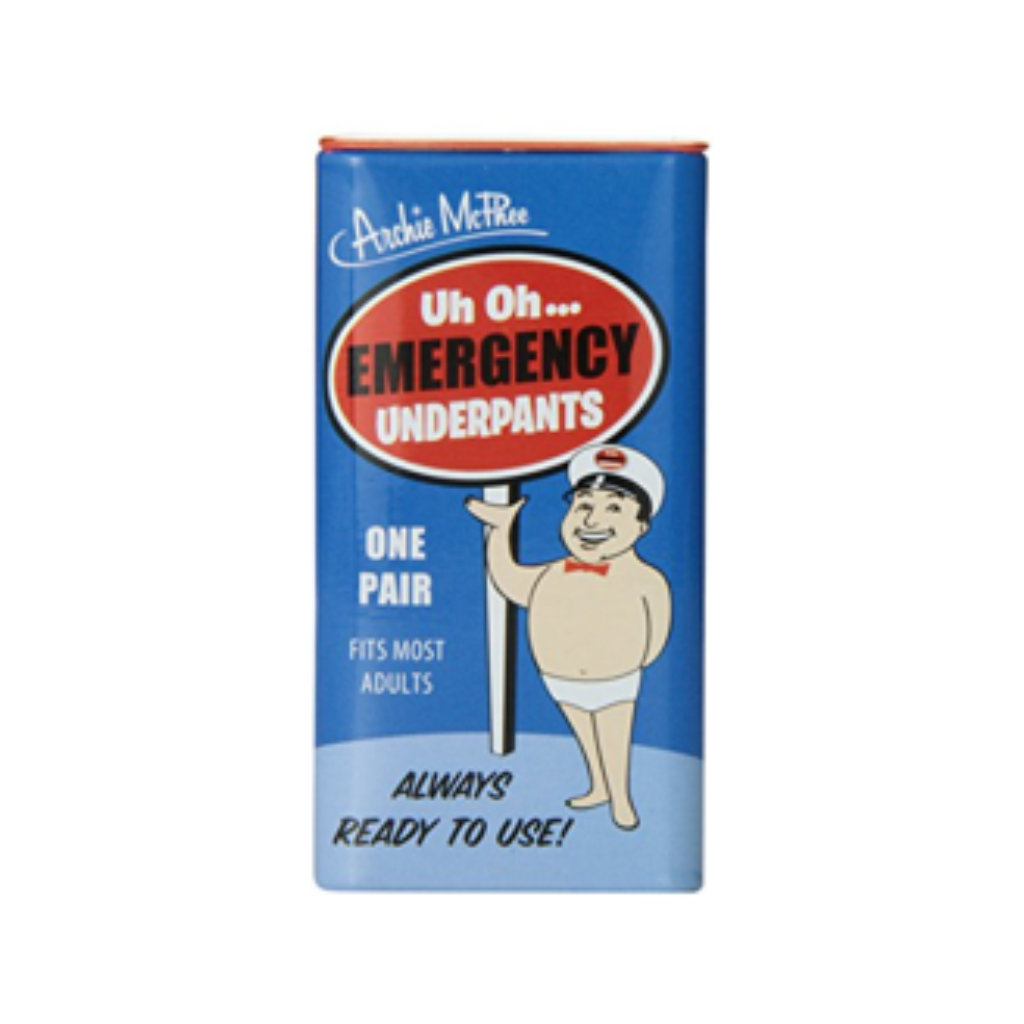 Emergency Underpants in a Tin Archie McPhee Gag Gifts