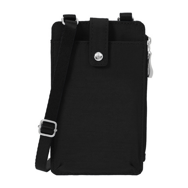 BLACK On The Run Phone Case Baggallini Baggallini Apparel & Accessories > Handbags, Wallets & Cases