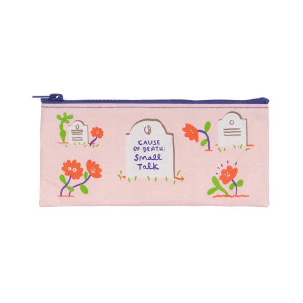 Cause of Death Small Talk Pencil Case Blue Q Apparel & Accessories - Pouches & Cases