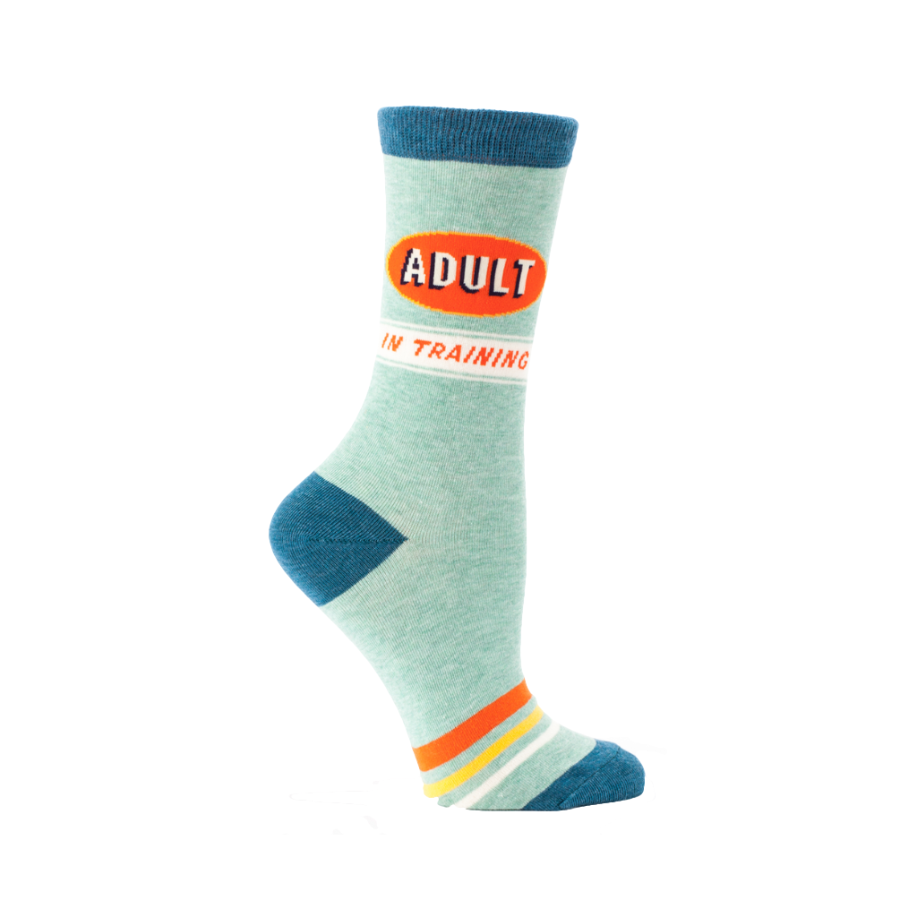 Adult In Training Crew Socks - Womens Blue Q Apparel & Accessories - Socks - Womens