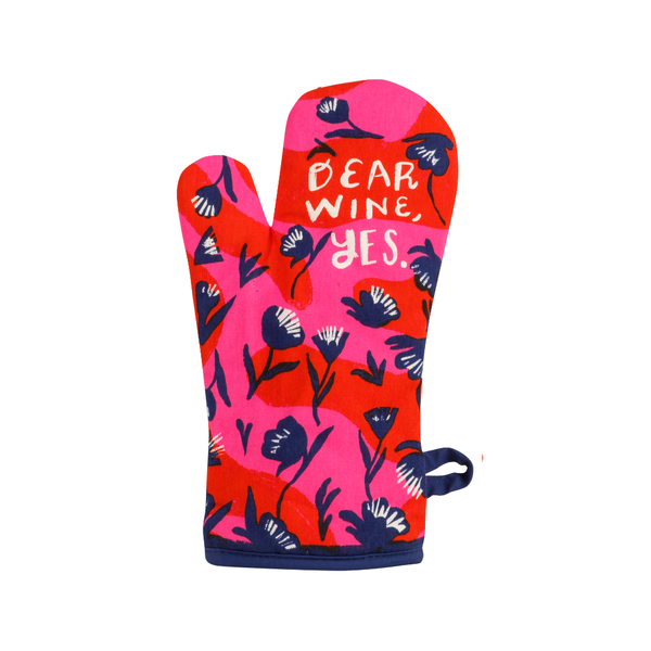 Dear Wine Yes Oven Mitt Blue Q Home - Kitchen - Oven Mitts & Pot Holders